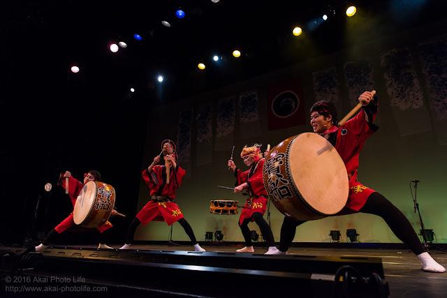 阿波踊りの鳴り物、大胴と締め太鼓と鳴り物を奏でるプロの集団