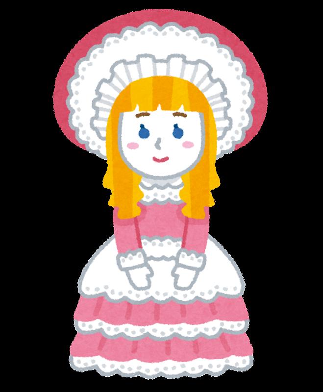 フランス人形のイラスト かわいいフリー素材集 いらすとや