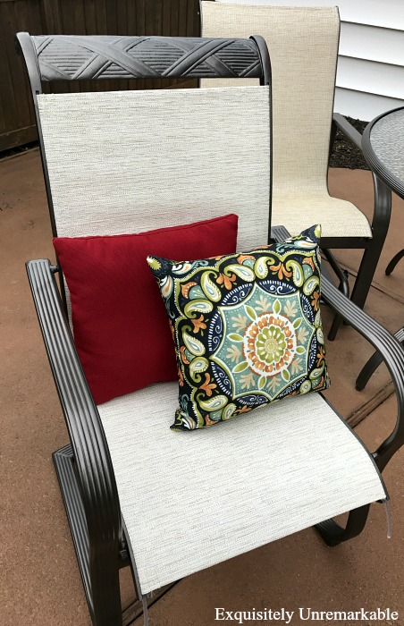 sling replacement for patio chairs danish design chair vintage outdoor makeover how to replace furniture slings exquisitely