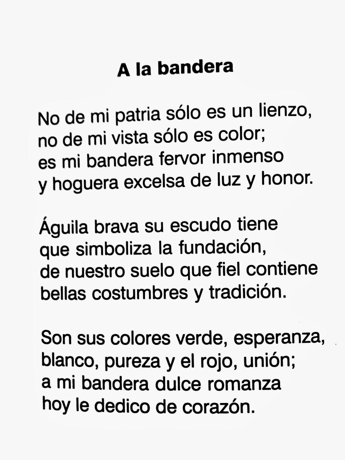 poema de la bandera de mexico