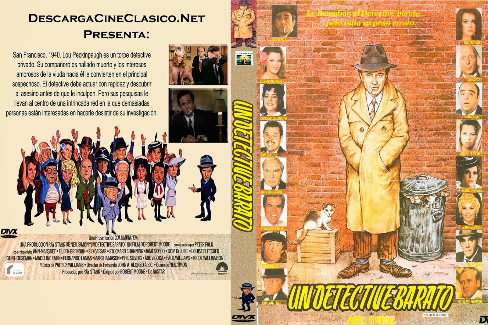 Carátula: Un detective barato (The Cheap Detective)