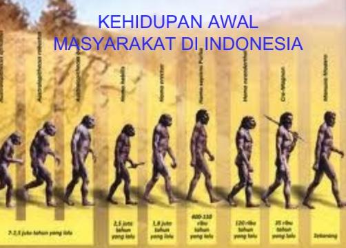 Awal Kehidupan Manusia Purba di Indonesia (Kehidupan Awal Masyarakat Indonesia)