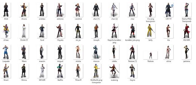 gambar semua karakter free fire keren .zip