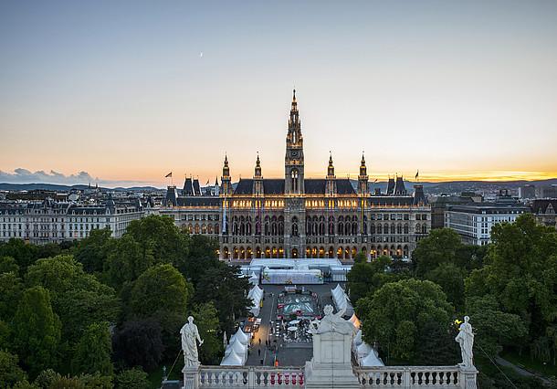 Cidade turística de Viena na Áustria