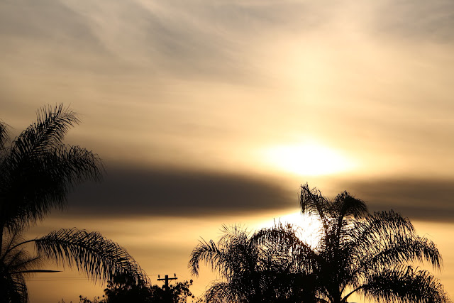 A view of the sunset in Orange County California