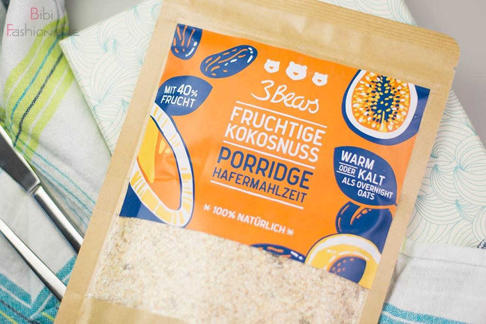 dm neue Köstlichkeiten Unboxing 3Bears fruchtige Kokosnuss Porridge Hafermahlzeit
