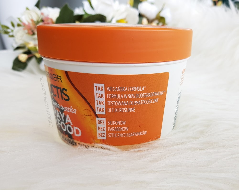 PAPAYA HAIR FOOD GARNIER FRUCTIS naturalna maska do włosów
