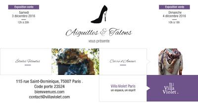 expo villa viollet le 3 et 4 decembre
