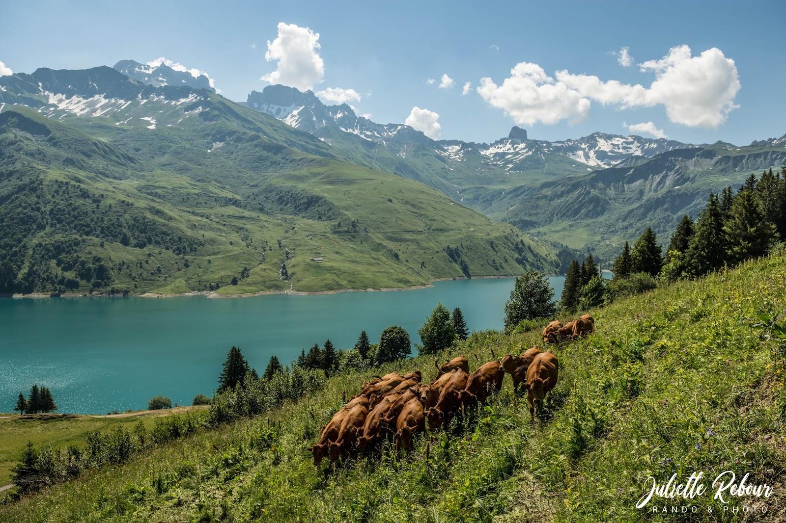 Lac de Roselend et Pierra Menta