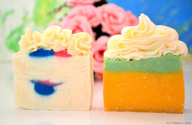 savons - savons naturels - savons en forme de tartes - savons gourmands - savons festifs