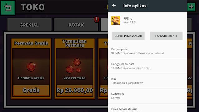 Total Size game Android FPS.io Pertempuran karakter Pixel