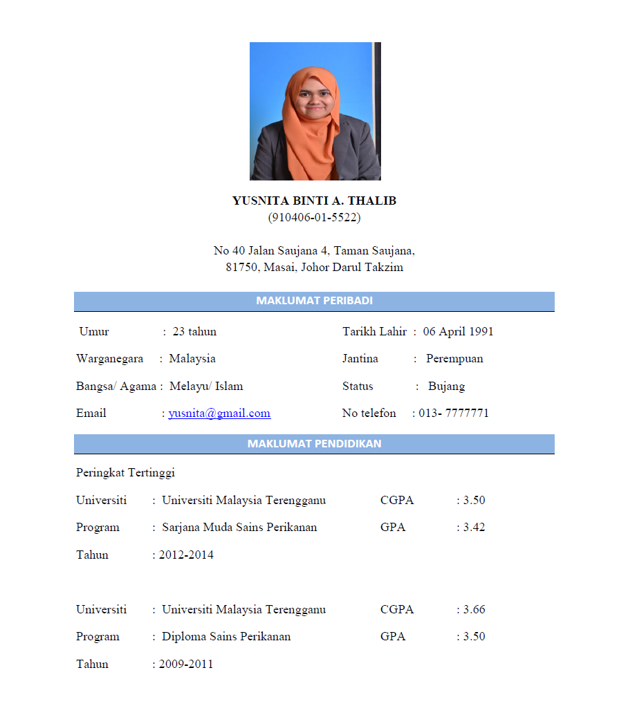 resume example bahasa melayu best resumes curiculum vitae and