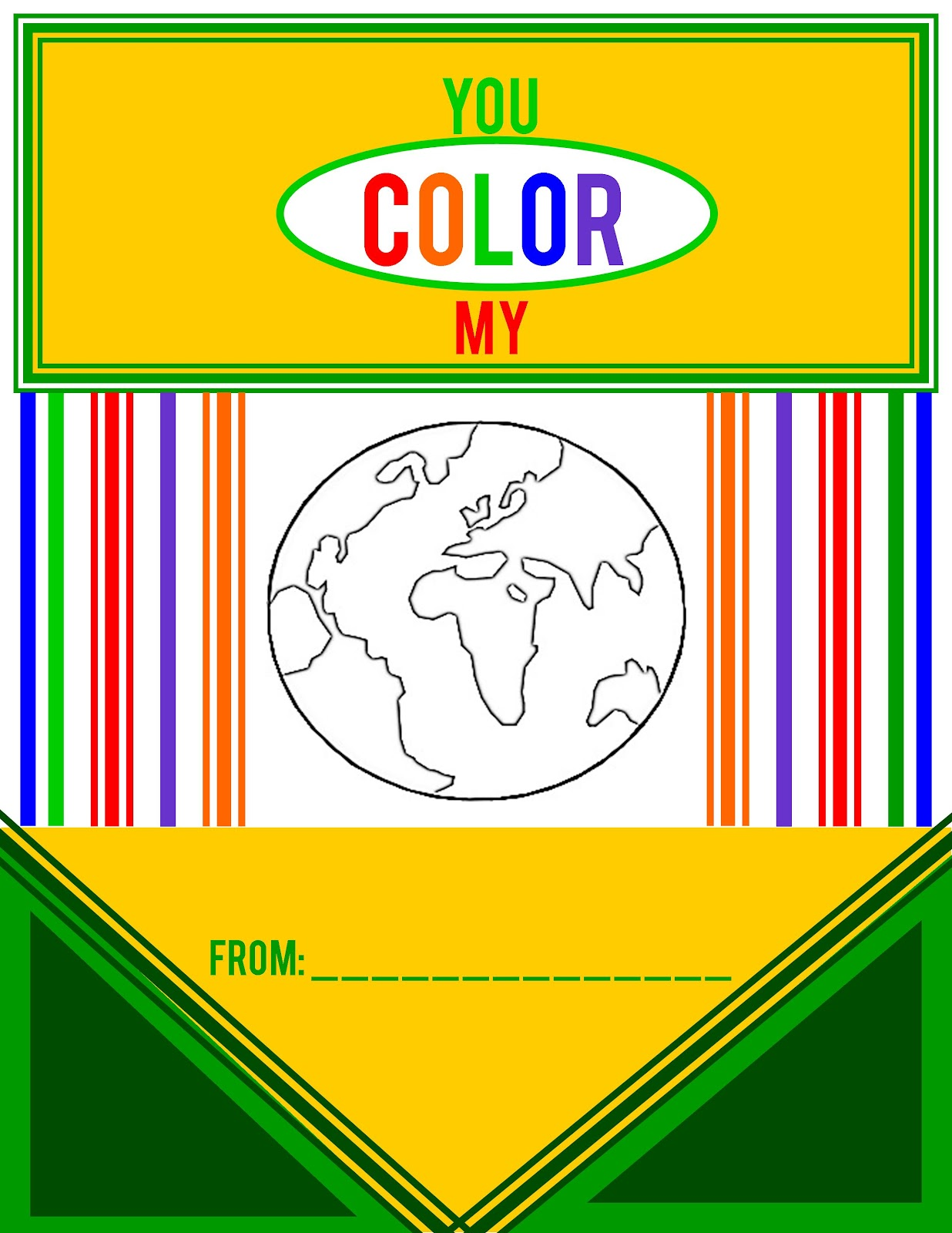 photo relating to You Color My World Printable titled On your own Coloration My Global!