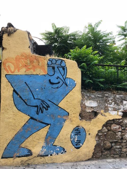Athens, Greece Plaka neighborhood graffiti