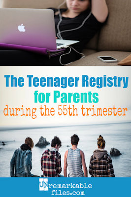 I can't stop laughing at this hilarious list of fake registry ideas for parents of teenagers! Best piece of teenager parenting humor I've read in a long time. Nothing's harder than life with teens, and it's better to laugh than cry, right? #raisingteenagers #parentinghumor