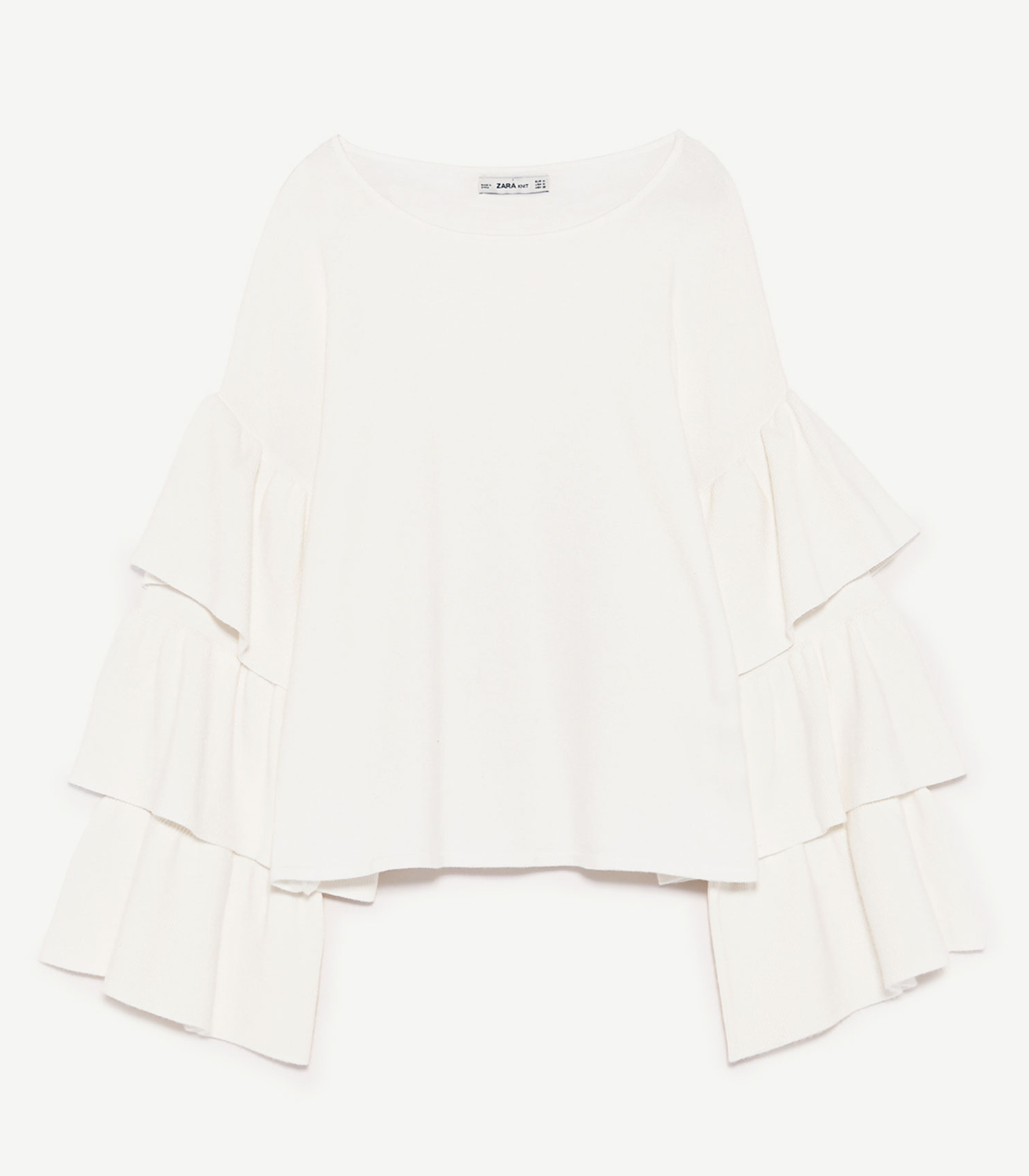 Buy Zara Sweater with ruffled Sleeves