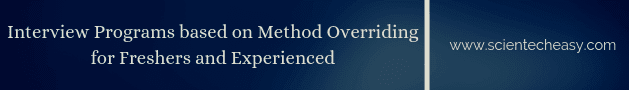 Method overriding interview programs