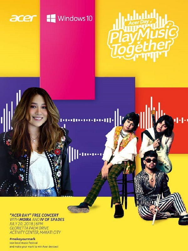 Acer Philippines Brings Free Concert Treat Featuring Moira Dela Torre, IV of Spades, and GForce