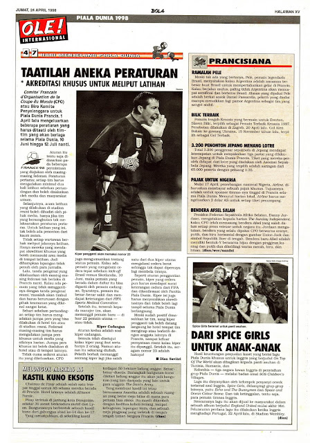 PIALA DUNIA 1998: TAATILAH ANEKA PERATURAN