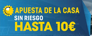 William Hill Apuesta con seguro 10 euros Atlético vs Barcelona 26 febrero