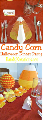 Celebrate Halloween with your favorite Monsters with a fun Candy Corn Halloween dinner party. Check out all the great DIY ideas and decorations to easily create a Halloween party that will send your guests out trick or treating in full Halloween spirit.