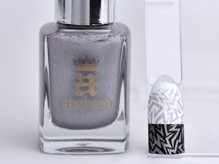 Regular nail polish stamping swatches /  [A-England] Fonteyn, スタンピングネイル