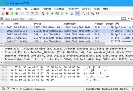 WireShark - mode Promiscuous
