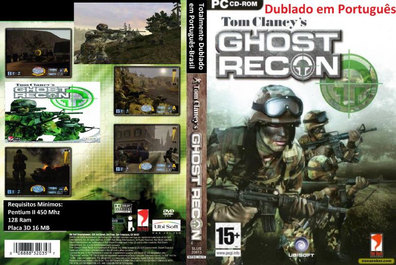 Ghost Recon Dublado em Português PC DVD Capa