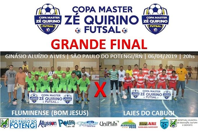 São Paulo do Potengi: Hoje dia (06) acontece a grande final da 1°Copa Master Zé Quirino de Futsal