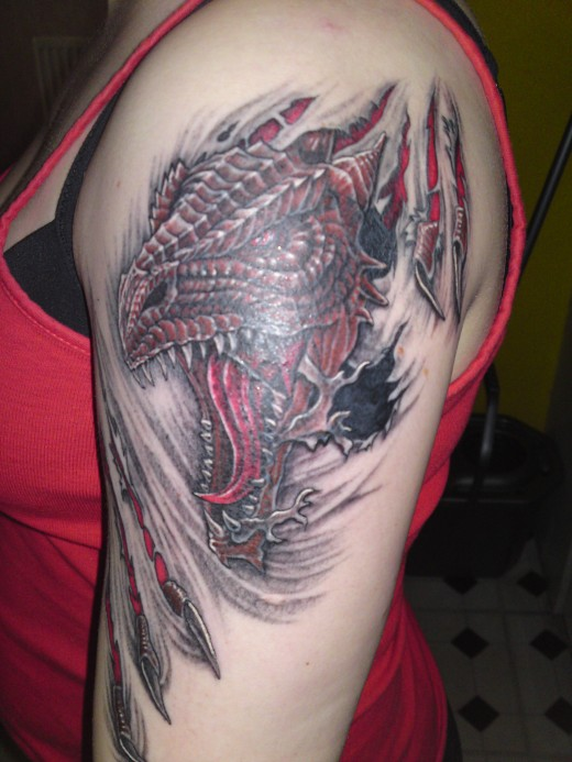 dragon tattoo for women 520x693