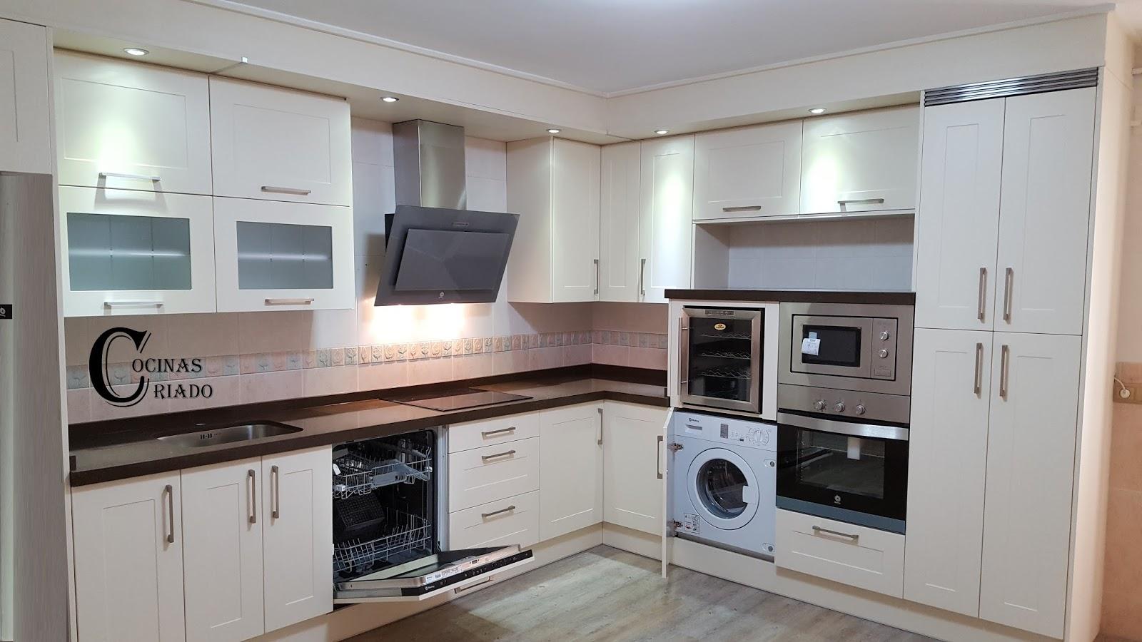 Cocinas criado roncal beige for Cocinas completas con electrodomesticos