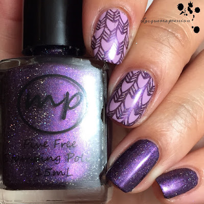 Nail polish swatch of Figgy by M Polish