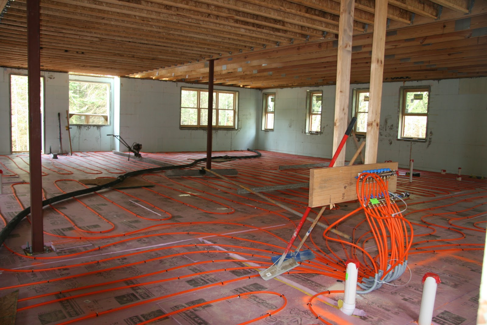 River S Edge Project Radiant Floor Heating With An Open