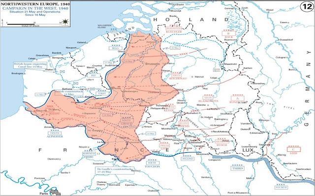 Η γερμανική προώθηση μέχρι την 21 Μαΐου