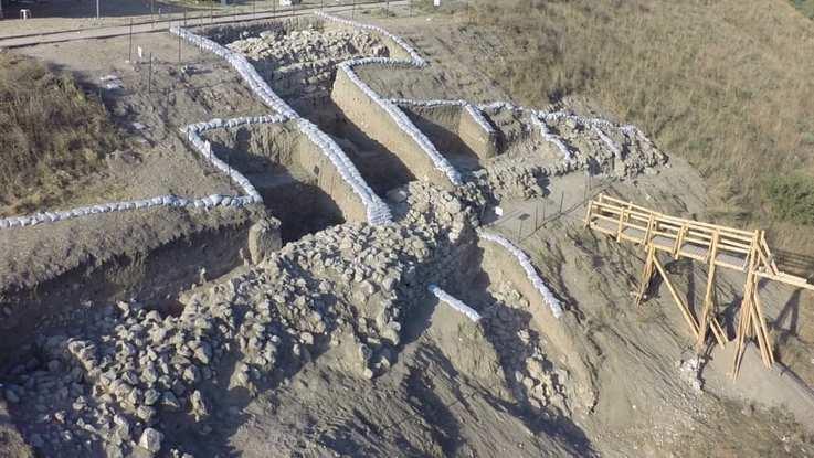 Restos arqueológicos de la ciudad de Laquis en Israel