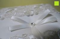 Schleife: Hochzeit Ringkissen mit Satin Bogen 21cm* 21cm