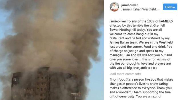Jamie Ingin Menjamu Para Korban Kebakaran Grenfell