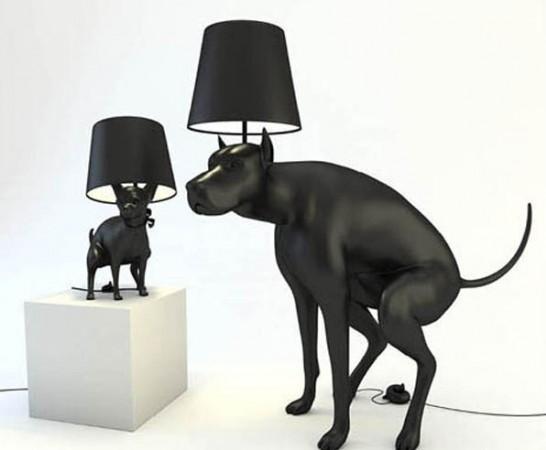 ideias para decorar Decoração com abajur de Cão