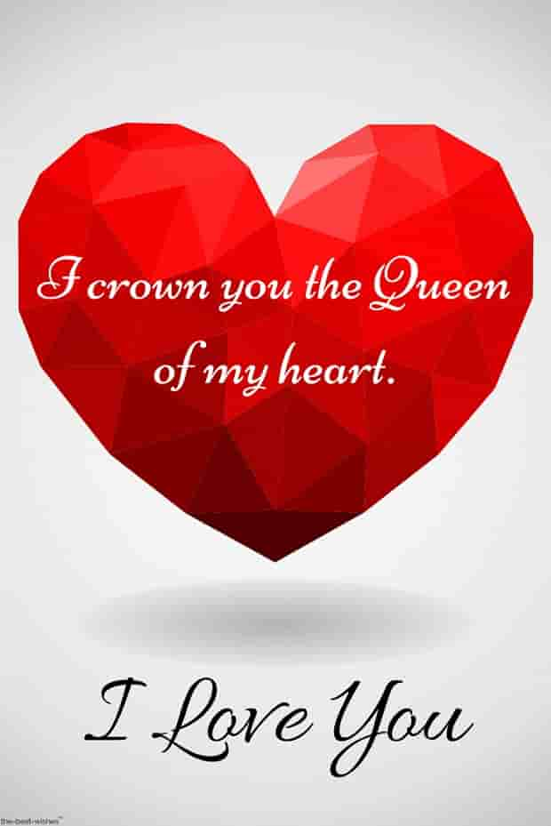 love quotes for my queen with heart