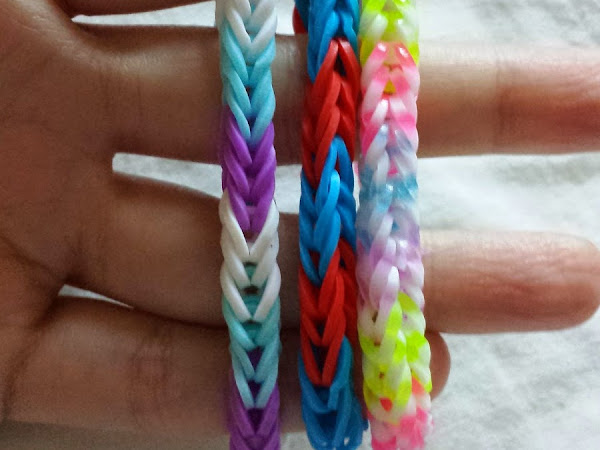 Fish tail loom band tutorial
