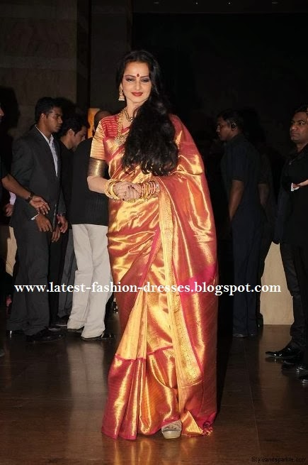 ACTRESS REKHA SILK SAREE