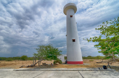 Hot Summer Cool White Beach Coastal Light House