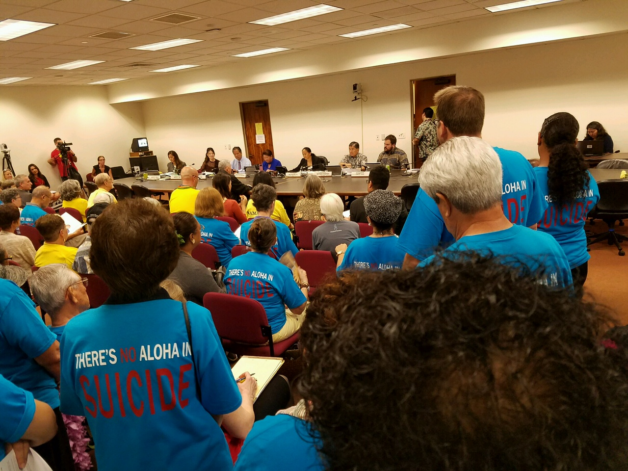 Blue Shirts Dominate Hearing