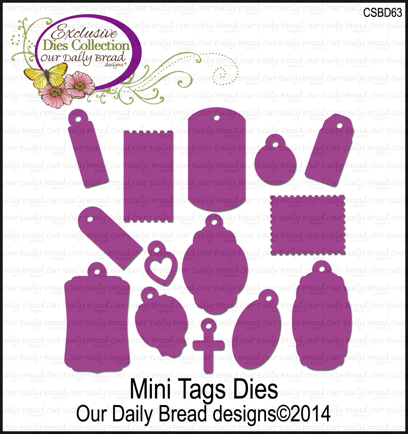 ODBD Custom Mini Tags Dies