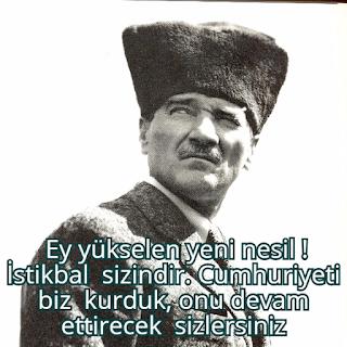 atatürk sözleri cumhuriyet capsler
