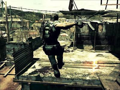 Spesifikasi PC untuk Resident Evil 5  Sinopsis   Cerita dari RE5 ini menceritakan tentang petualangan Chris Redfield (yang sekarang jadi jauh lebih keren dan gahar) di suatu negara (fiktif/rekaan) di kawasan Afrika yang disebut Kijuju. Chris kini  telah menjadi anggota dari sebuah kesatuan yang disebut Bioterrorism Security Assessment Alliance  (BSAA). Kali ini ia ditugaskan untuk menyelidiki sebuah insiden yang terjadi di wilayah yang menjadi setting game ini. Lagi-lagi Chris tidak akan sendiri dalam petualangannya.     Ia akan ditemani oleh  seorang cewek latin berumur 23 tahun yang bernama Sheva Alomar (Biarpun namanya Sheva, bukan berarti  doi punya hubungan darah sama pemain bola asal Ukraina). Tidak hanya berusaha melakukan investigasi  mengenai sesuatu yang terjadi di sana, kehilangan Jill terus membayangi dirinya. Keberadaan Sheva  sebagai partner-nya kali ini pun sempat mengingatkannya dengan trauma kehilangan Jill. Seiring dengan  penyelidikannya mengenai apa yang tengah terjadi di balik penyebaran virus di kawasan ini, Chris pun  berharap untuk bisa menemukan kembali Jill, walaupun harus berhadapan kembali dengan Albert Wesker yang  telah menjadi musuh bebuyutannya. Ia masih menyimpan keyakinan bahwa Jill masih hidup di suatu tempat.   Di game kali ini, gamers akan bertemu dengan beberapa tokoh baru dan keterkaitan
