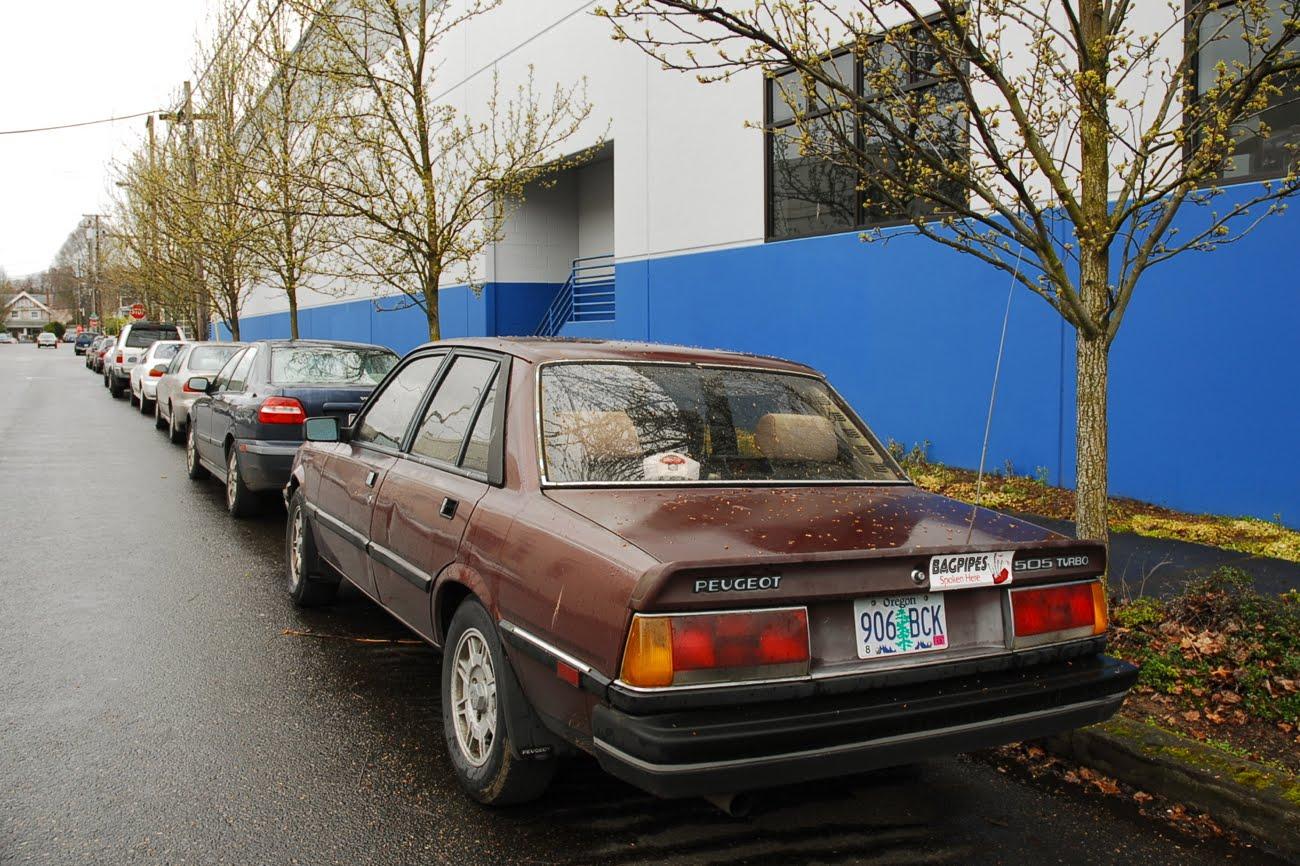 old parked cars 1986 peugeot 505 turbo. Black Bedroom Furniture Sets. Home Design Ideas