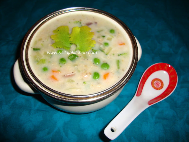 Oats Soup Recipe / Oats Vegetable Soup Recipe / Vegetable Oats Soup Recipe