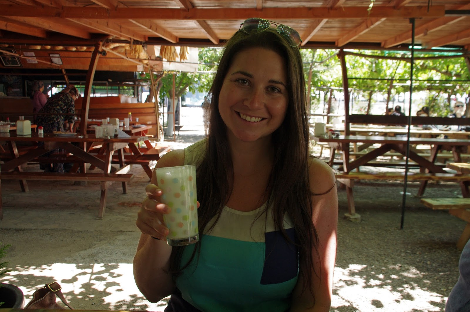Girl at Dayuranlar Restaurant Turkey