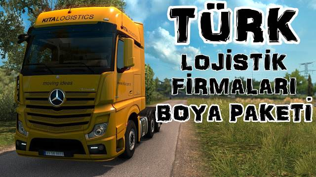 sinagrit baba ets 2 mods, ets 2 turkish logistics companies paint jobs pack, ets 2 türk lojistik firmaları boya paketi